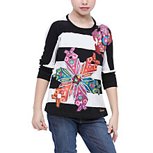 Buy Desigual Armeni T-Shirt, Black/White Online at johnlewis.com