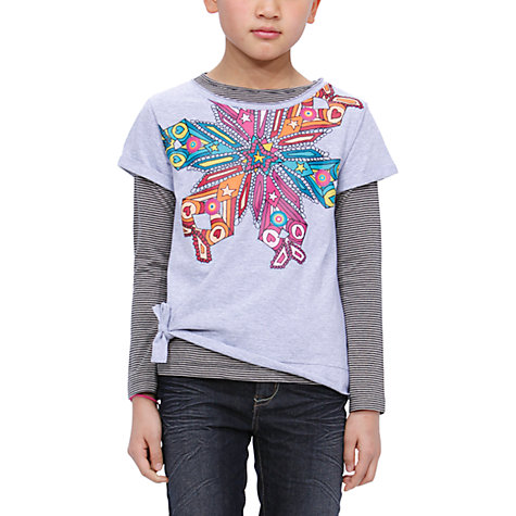 Buy Desigual Brasil T-Shirt, Grey Online at johnlewis.com