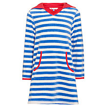 Buy John Lewis Girl Striped Towelling Dress, Blue/White Online at johnlewis.com