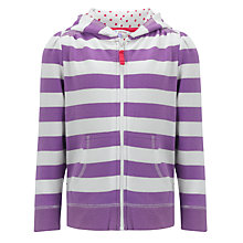 Buy John Lewis Girl Zip Through Hoodie, Purple Online at johnlewis.com