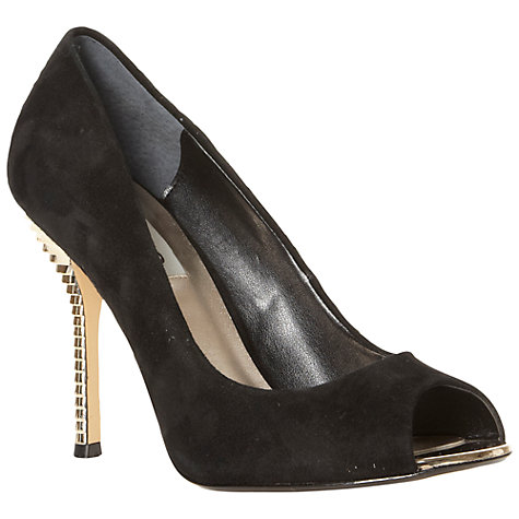 Buy Dune Draycott Suede Metallic Trim High Stiletto Court Shoes Online at johnlewis.com