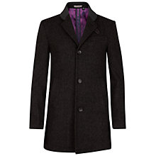 Buy Ted Baker Iksan Single Breasted Coat, Charcoal Online at johnlewis.com
