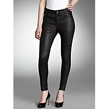 Buy Somerset by Alice Temperley Leather Trousers, Black Online at johnlewis.com