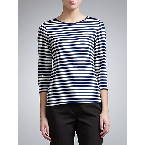 Buy COLLECTION by John Lewis Kelsey Top, Navy/Ivory Online at johnlewis.com