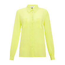 Buy COLLECTION by John Lewis Amber Silk Blouse, Citrus Online at johnlewis.com