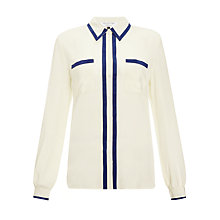 Buy COLLECTION by John Lewis Amber Silk Blouse, Vanilla/Ink Online at johnlewis.com