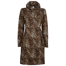 Buy James Lakeland Cowl Neck Leopard Print Dress, Beige Online at johnlewis.com