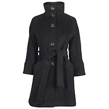 Buy James Lakeland 3/4 Sleeve Belted Coat, Black Online at johnlewis.com