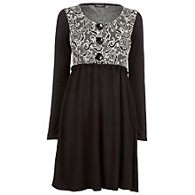 Buy James Lakeland Jacquard Dress, Black/White Online at johnlewis.com