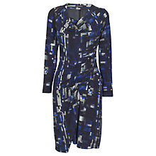 Buy James Lakeland Geometric Print Drape Dress, Blue Online at johnlewis.com