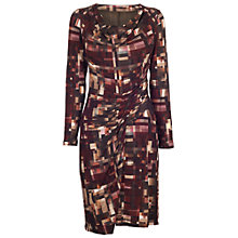 Buy James Lakeland Drape Print Dress, Brown Print Online at johnlewis.com