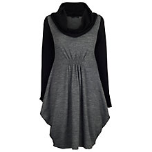 Buy James Lakeland Bicol Cowl Neck Dress, Grey/Black Online at johnlewis.com