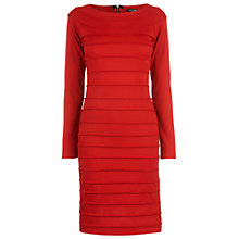 Buy James Lakeland Pleat Piping Detail Dress, Red Online at johnlewis.com