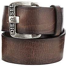 Buy Diesel B-Star Leather Belt, Dark Brown Online at johnlewis.com