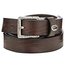 Buy Diesel Slim Leather Belt, Brown Online at johnlewis.com