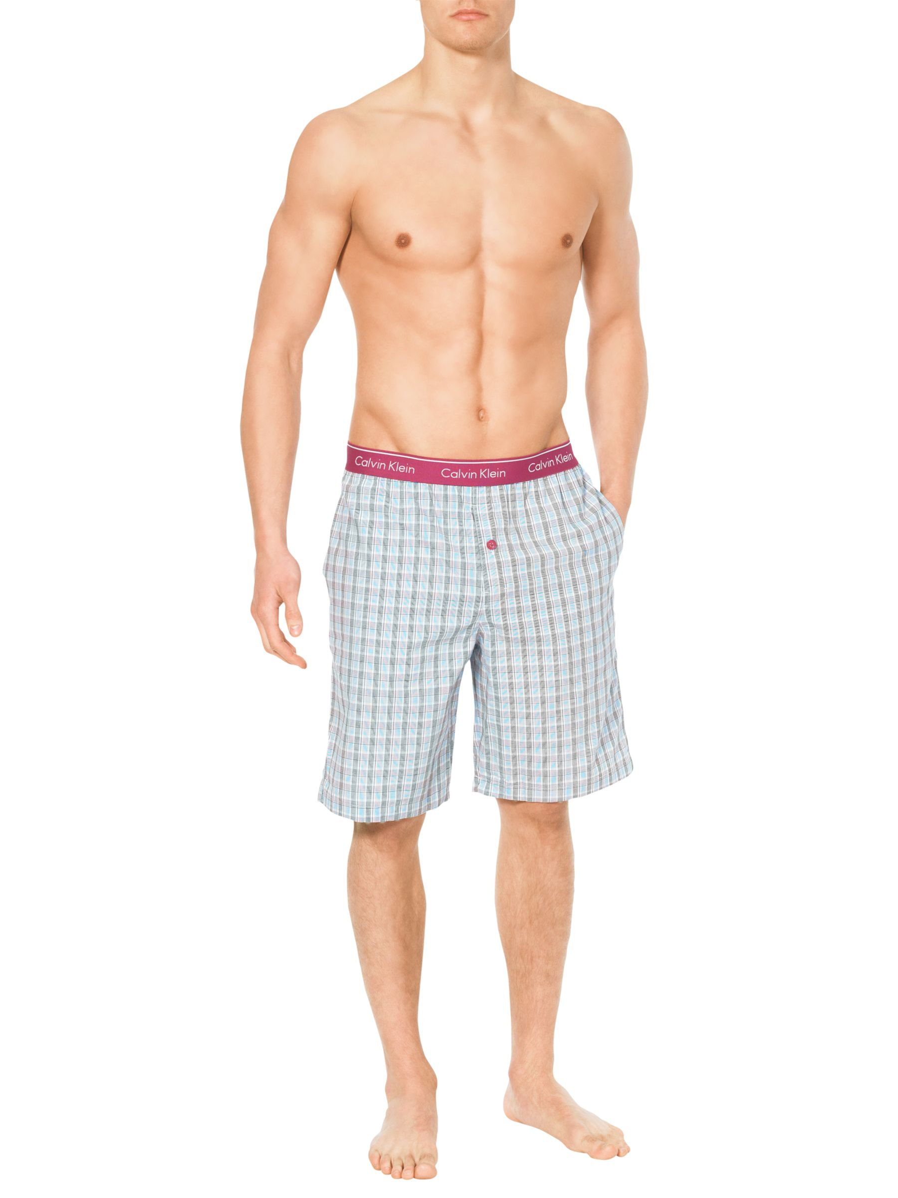 Calvin Klein Check Lounge Shorts