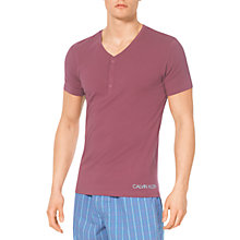Buy Calvin Klein Henly V-Neck Lounge T-Shirt, Mauve Online at johnlewis.com