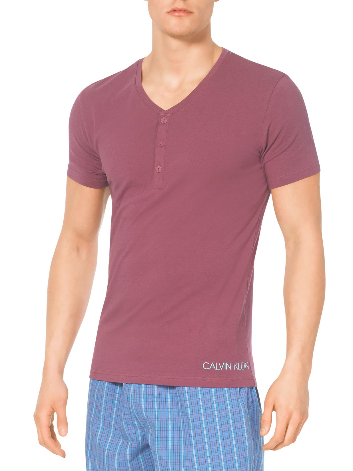 Calvin Klein Henly V-Neck Lounge T-Shirt, Mauve