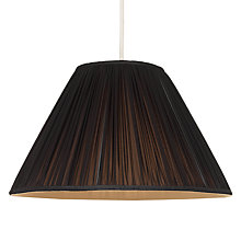 Buy John Lewis Coralie Chiffon Lamp Shade, Black/ Gold Online at johnlewis.com