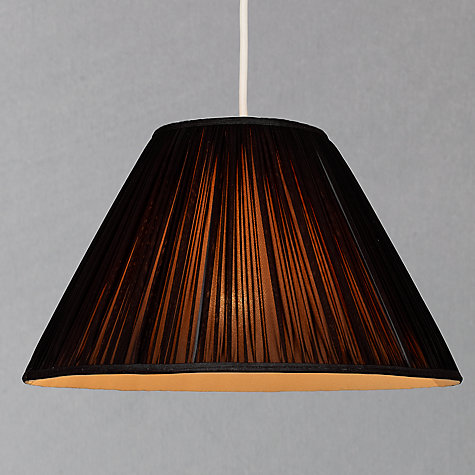 Buy John Lewis Coralie Chiffon Tapered Shade, Black/ Gold Online at johnlewis.com