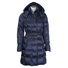 Buy Geox Padded Long Belted Toggle Coat Online at johnlewis.com