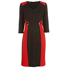 Buy James Lakeland V-Neck Button Dress, Black/Red Online at johnlewis.com