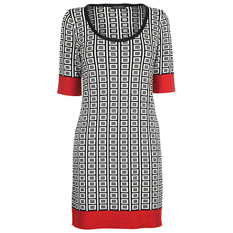 Buy James Lakeland Jacquard Contrasting Dress, Black/White Online at johnlewis.com