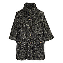 Buy James Lakeland Chunky Button Cardigan, Black/Grey Online at johnlewis.com