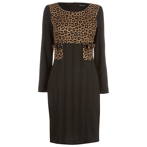 Buy James Lakeland Long Sleeve Spotted Dress, Taupe Online at johnlewis.com