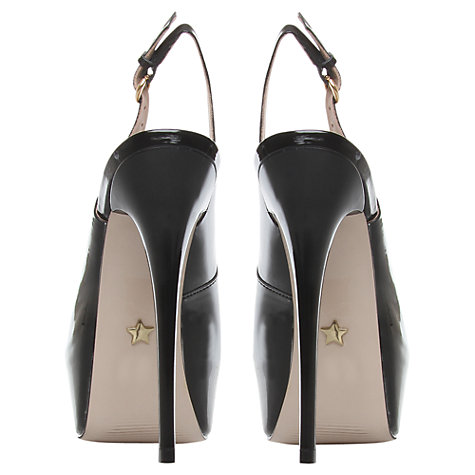 Buy KG by Kurt Geiger Essence Patent High Heel Slingback Court Shoes Online at johnlewis.com