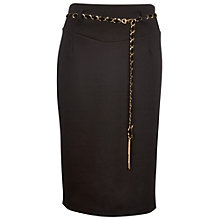 Buy James Lakeland Belt Sheath Skirt, Black Online at johnlewis.com
