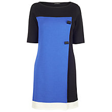Buy James Lakeland Button Dress, Black/Blue/Cream Online at johnlewis.com