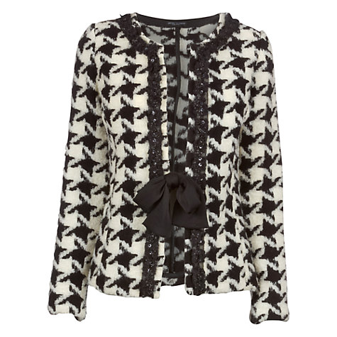 Buy James Lakeland Bow Jacket, Black/White Online at johnlewis.com