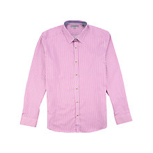 Buy Ted Baker Rinnit Satin Stripe Shirt, Red Online at johnlewis.com