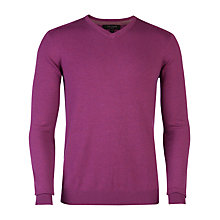 Buy Ted Baker Abadaz V-Neck Jumper, Purple Online at johnlewis.com