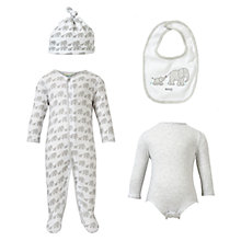Buy John Lewis Baby Elephant Set, Grey Online at johnlewis.com