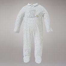 Buy John Lewis Baby Elephant Velour All In One, Grey Online at johnlewis.com