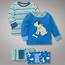 Buy John Lewis Dog and Stripe Pyjamas, Pack of 2 Online at johnlewis.com