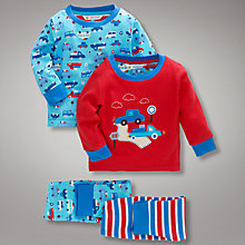 Buy John Lewis Cars Pyjamas, Pack of 2 Online at johnlewis.com