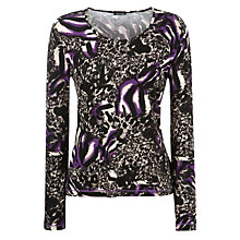 Buy Gerry Weber Abstract Animal Print Top, Multi Online at johnlewis.com
