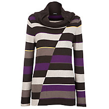 Buy Gerry Weber Stripe Cowl Neck Jumper, Multi Online at johnlewis.com