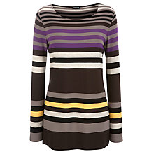 Buy Gerry Weber Jersey Stripe Tunic Top, Multi Online at johnlewis.com
