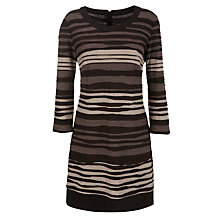 Buy Gerry Weber Textured Knitted Dress, Brown Online at johnlewis.com