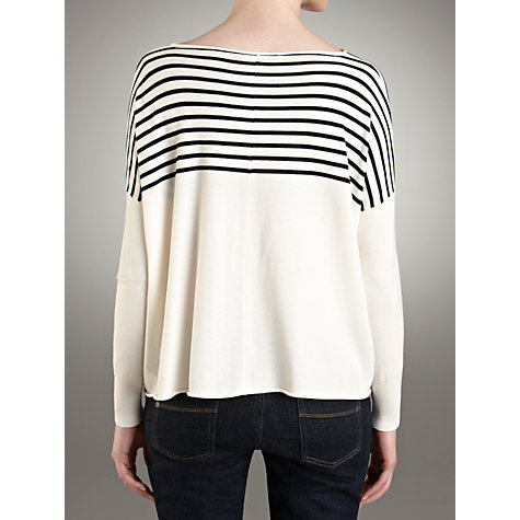 Buy Weekend by MaxMara Parano Striped Boxy Top, Ultramarine Online at johnlewis.com