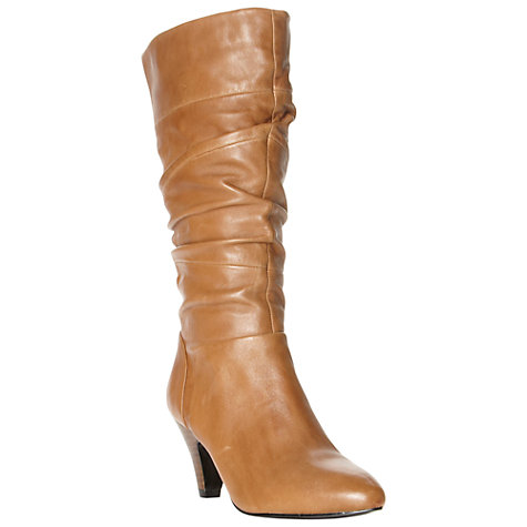 Buy Dune Rye Leather Slouch Calf Boots Online at johnlewis.com