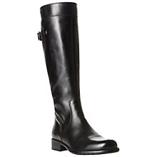 Buy Dune Thax Leather Back Buckle Block Heel Riding Boots Online at johnlewis.com
