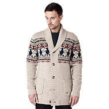Buy Original Penguin Shawl Neck Cardigan, Beige Online at johnlewis.com