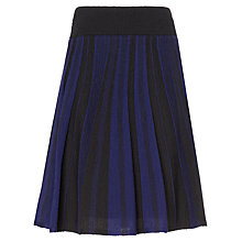 Buy Phase Eight Stripe Pointelle Skirt, Black/Navy Online at johnlewis.com