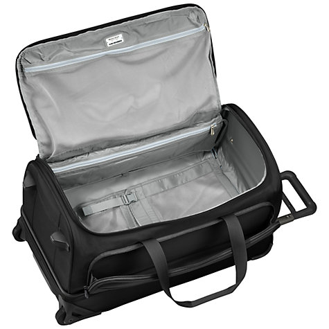Buy Briggs & Riley Baseline 2-Wheel Duffle Bag, Black, Large Online at johnlewis.com