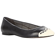 Buy Bertie Lowro Leather Punch Hole Metallic Toecap Ballerina Pumps Online at johnlewis.com